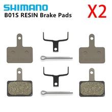 2 пары shimano B01S тормозные колодки из смолы дисковые Тормозные колодки для MTB MT200/M315/M355/M395/M446/M575/M486/M485/M445