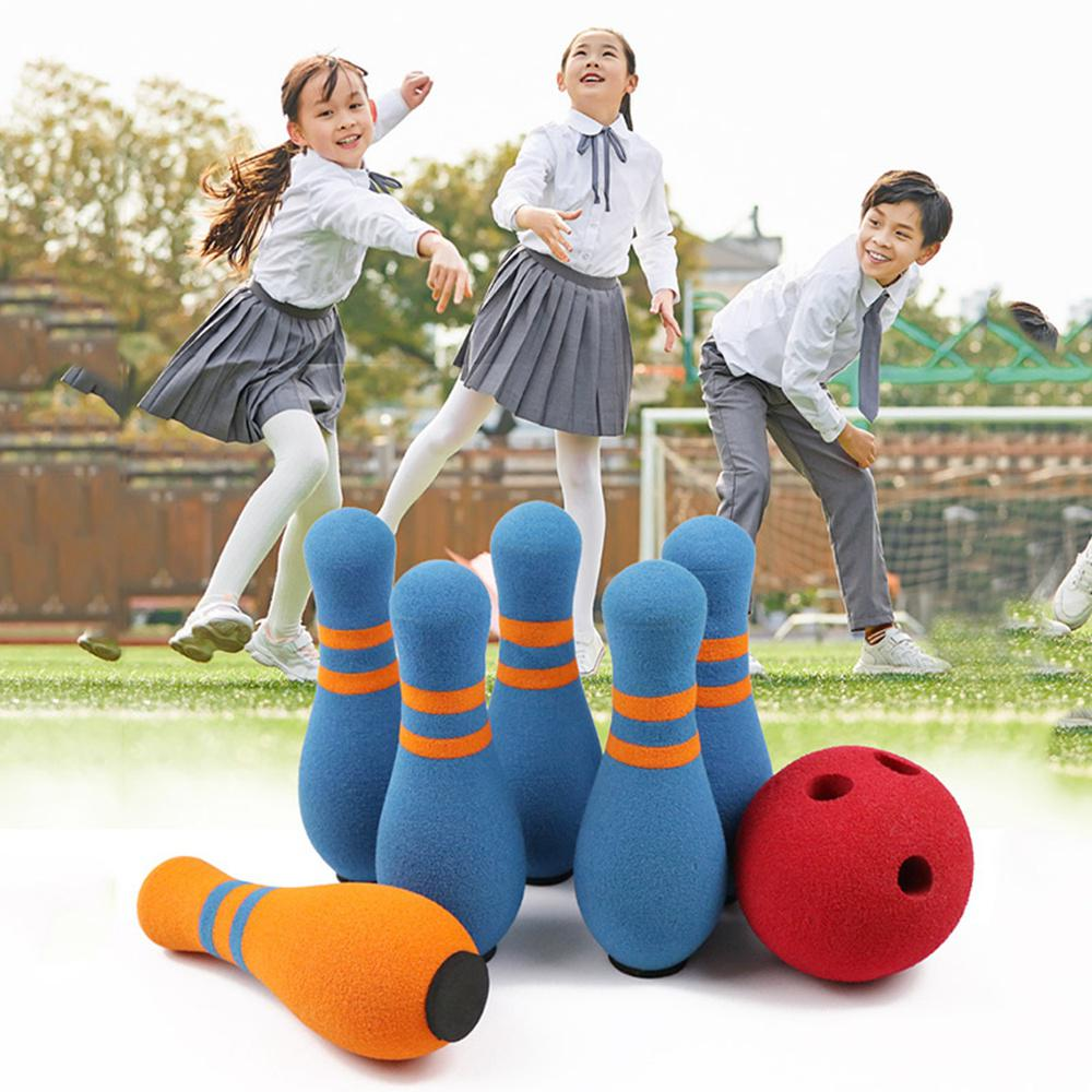 Children's Toys Bowling Set Bowling Game Toy NBR Soft Safety Bowling Set Sports Exercise Indoor&Outdoor Educational Toys