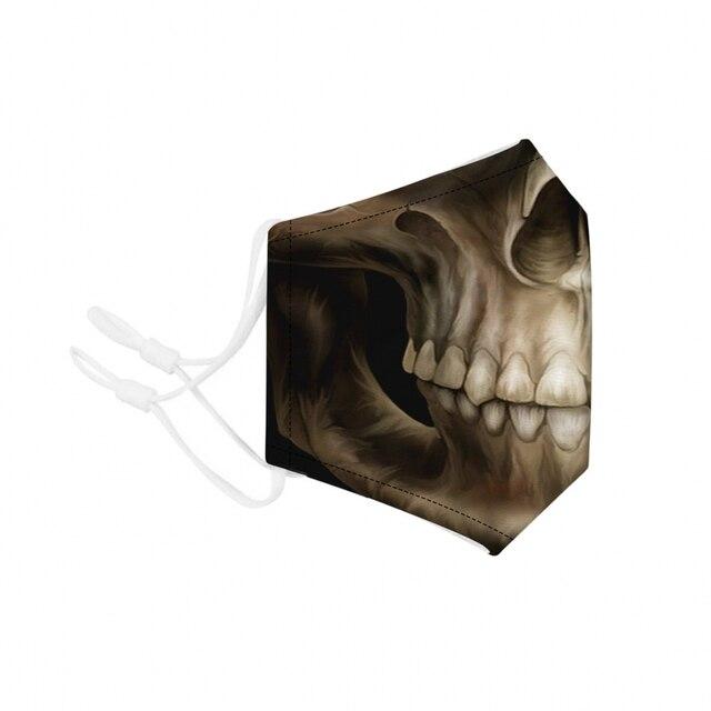 Festival Skull Flu Masks PM2.5 Black Dustproof Skull Half Face Mask Multi Use Fall Winter Accessories Mask Halloween Decoration 3