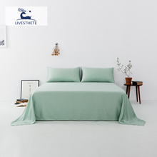 Liv-Esthete New 100% Mulberry Silk Green Flat Sheet Luxury Silky Bed Linen White Solid Pillowcase Double Queen King