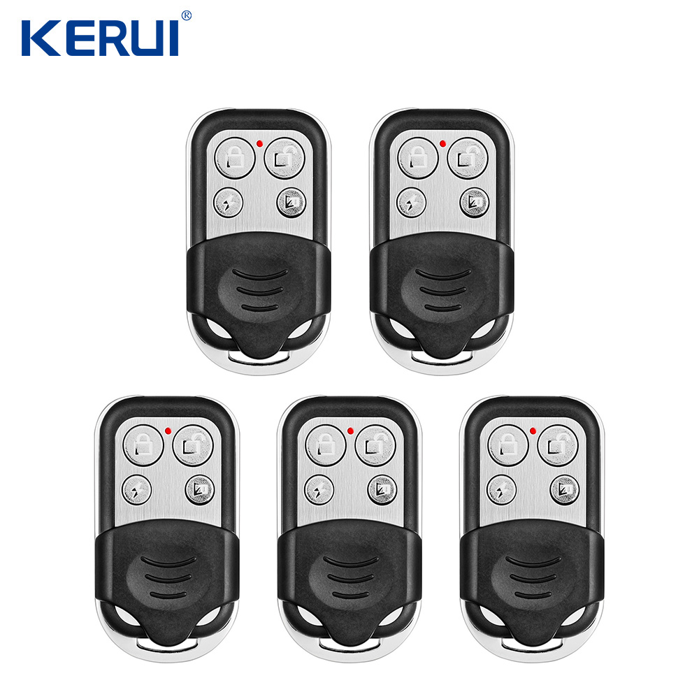 5pcs KERUI RC528 Metal Portable Remote Control  433MHz Alarm Accessories Controller  For Home Security Alarm System Wifi Alarm