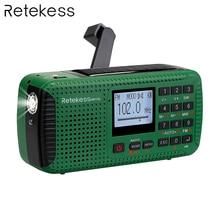 TIVDIO HR-11S FM/MW/SW Radio Hand Crank Solar Emergency Bluetooth MP3 Player Digital Recorder Portable F9208G