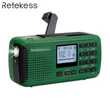 цена на TIVDIO HR-11S FM/MW/SW Radio Hand Crank Solar Emergency Radio Bluetooth MP3 Player Digital Recorder Portable F9208G