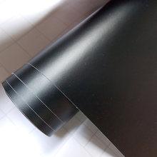 Etiqueta do veículo do filme do envoltório do carro da folha preta matte preta superior do cetim do carro envolve o auto com tamanho diferente/rolo