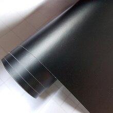 Premium Schwarz Matt Vinyl Wrap mit Luftblase Frei Satin Matt Schwarz Folie Auto Wrap Film Fahrzeug Aufkleber 5m/rolle