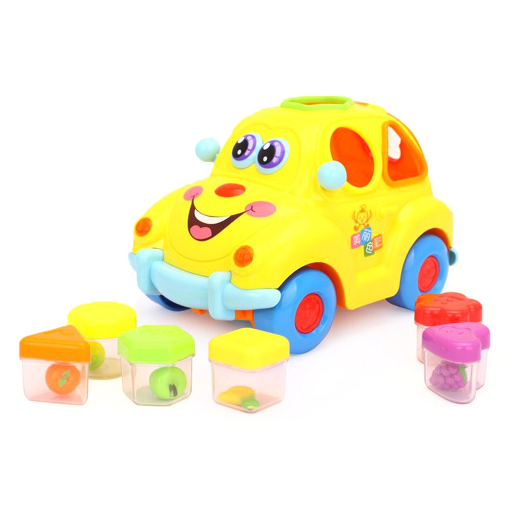 Baby Toys Electronic Car With Music And Light Puzzle Fruit Shape Sorters Learning Educational For Children