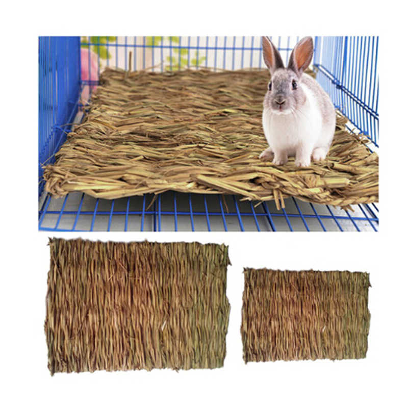 Grass Hamster Bed Woven Small Animal Mat Safe Pet Chew Toy for Hamster, Rabbit, Hedgehog and Guinea Pig Thickness 1 CM