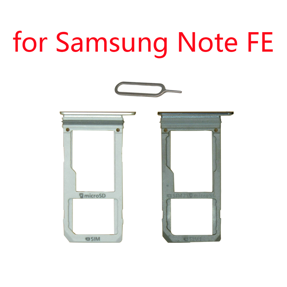 <font><b>SIM</b></font> Card Tray Holder For Samsung Note FE N935 Galaxy Note Fan Edition Original Phone Housing New Micro SD <font><b>SIM</b></font> Card Adapter <font><b>Slot</b></font> image