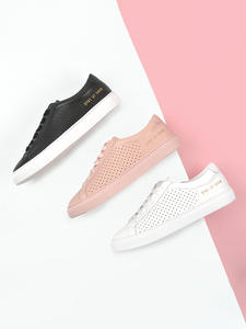Donna-In White Sneakers Shoes Comfortable Flat Women Genuine-Leather Summer Spring Low-Heel