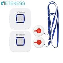 RETEKESS kablosuz tıbbi çağrı sistemi çağrı hemşire çağrı uyarısı hasta yardım sistemi evde bakım/hastane çağrı düğmesi/alıcı