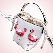 Женская сумка 2020 новый стиль горячие продажа корейском стиле фламинго ведро ИНС маленькая сумочка Фея плеча