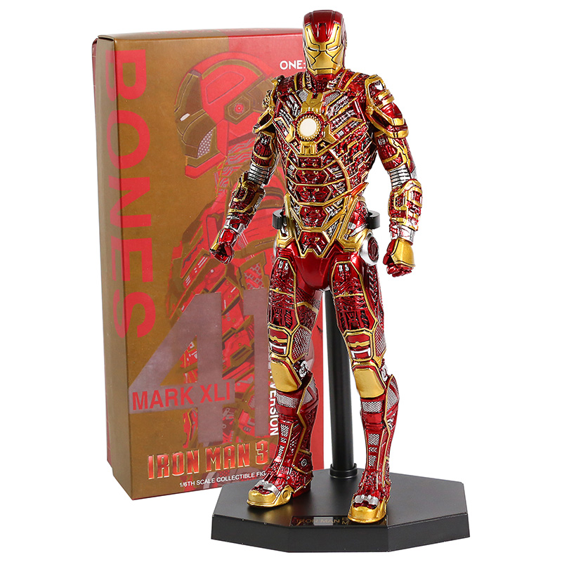 Crazy Toys Iron Man 3 MK41 Mark XLI Retro Armor Version 1/6th Scale Collectible Figure Model Toy
