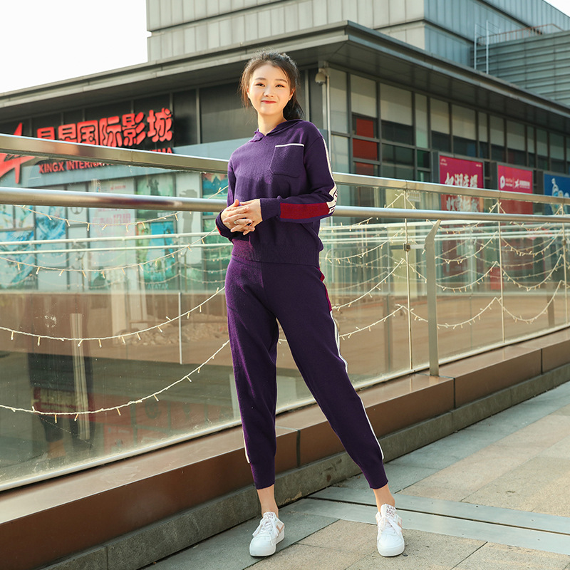 WOMEN'S Dress 2020 Korean-style Autumn And Winter Fashion Set Slim Fit Hoodie + Sports Pencil Pants Two-Piece Set