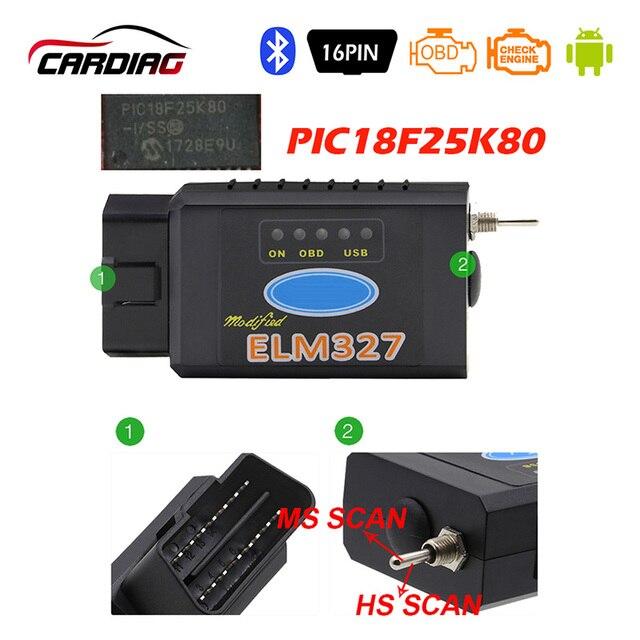 Elm 327 usb bluetooth funciona em forscan para ford hs can/ms pode v1.5 carro obd2 ferramenta de diagnóstico elm327 usb ftdi chip para opcional