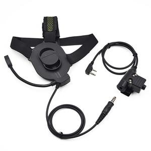 Image 2 - Casque tactique Bowman Elite II écouteur U94 PTT pour Kenwood TK2107 Baofeng UV 5R BF 888S UV 6R Portable Radio talkie walkie