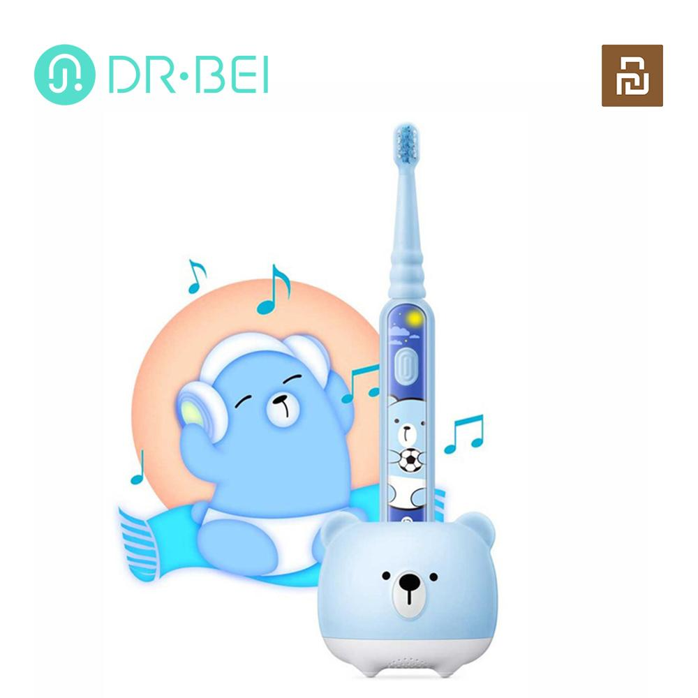 xiaomi youpin criancas sonic escova de dentes eletrica seguranca automatica macio a prova dwaterproof agua recarregavel
