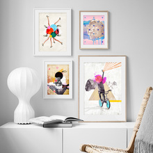 Abstract sculpture woman high heels flower Wall Art  Canvas Painting Nordic Posters And Prints Pictures For Living Room