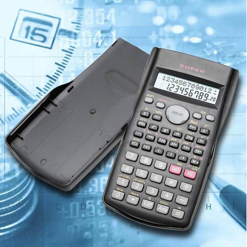 Portable Ilmiah Mahasiswa Calculator 2 Tampilan Garis 82MS-A Fungsi Elektronik Menghitung Alat Kalkulator
