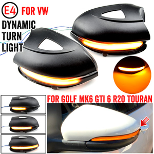 Image 4 - For VW GOLF 6 MK6 GTI R32 08 14 Touran LED Dynamic Turn Signal Light Side Wing Rearview Mirror Indicator Lamp With Bottom Shell