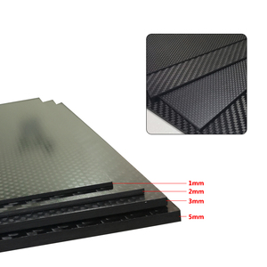 Image 4 - 400x500mm מפעל ישיר מכירה מלא 3K סיבי פחמן צלחת גיליון לוח פנל 40x50cm עובי 1 1.5 2 2.5 3 3.5 4 mm