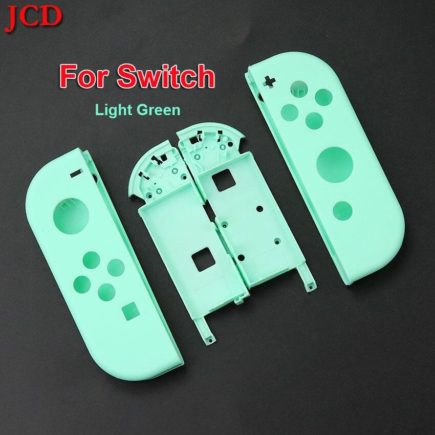 JCD para Switch NS NX Joy Con controlador carcasa Con marco medio L R Buttou Set para Nintendo interruptor luz verde