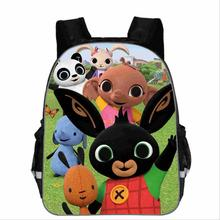 Bing Bunny Print Backpack School Boys Girls Children Book Bag Cartoon Baby Girl