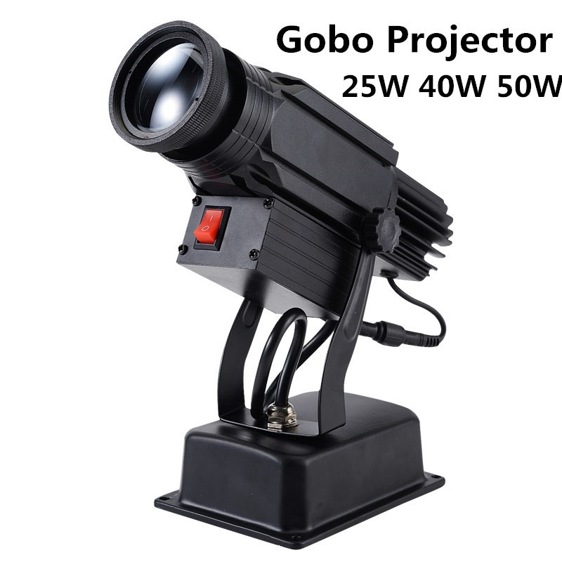Logo Projector 25W 40W 50W Mini Light Custom Made Logo Lens Retail Shop Indicate Sign Instruct Notice Gobo Lens Party Disco Ktv