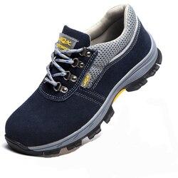 Zapatos de seguridad ZAPATOS DE TRABAJO transpirables para hombres zapatos de protección seguros Cabeza de Acero golpes Anti perforación una generación de grasa