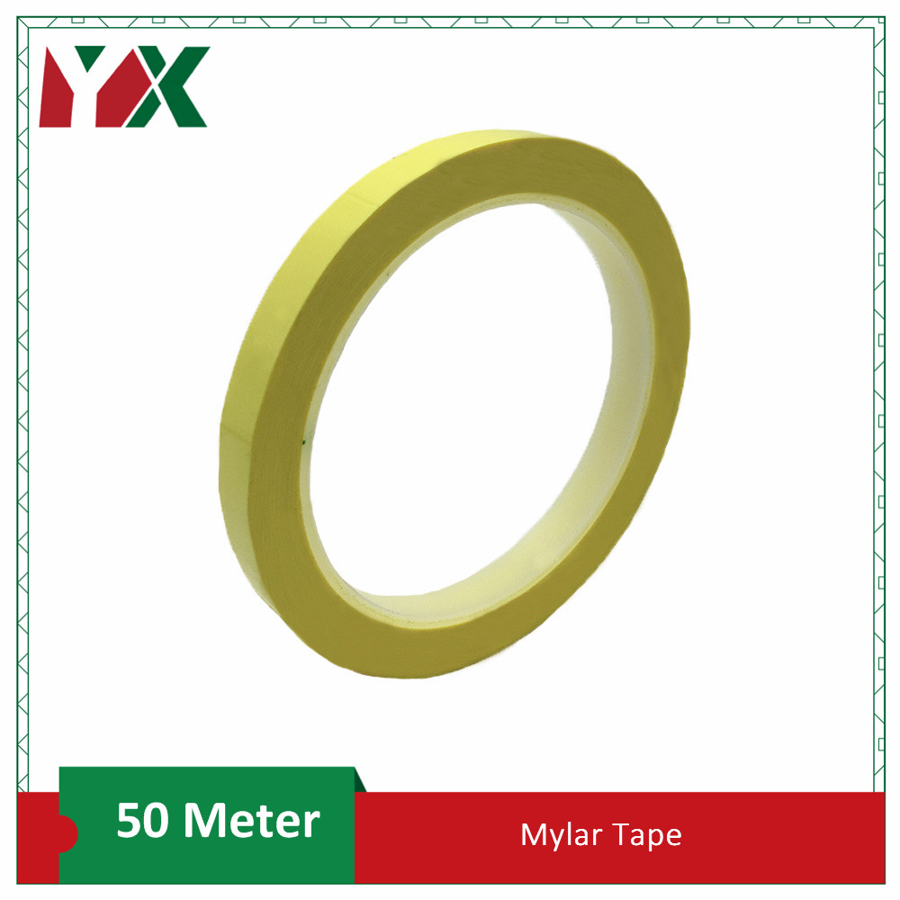 YX Heat Resistant Mylar Tape Polyester Film Tape for Transformers Motor Capacitor Coil Wrap 50 Meter Mylar Tape
