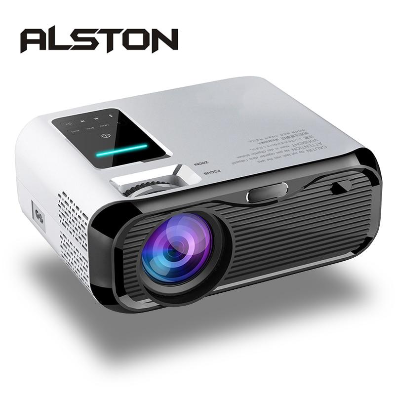 Алстон E500 ЖК-дисплей проектор 3500 люмен Поддержка 1080P проектор для домашнего Театр видеопроектор HDMI с поддержкой VGA AV TF USB