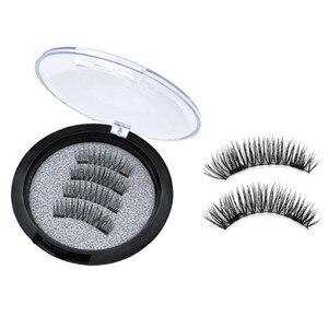 Image 5 - False Eyelashes Magnetic Natural 2 Magnets Set Natural Long Wearing Without Glue Long Lasting Multiple Magnetic Eyelashes