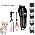 KEMEI профессиональный триммер для собак машинка для стрижки волос перезаряжаемая электробритва для животных электрическая машинка для стри...