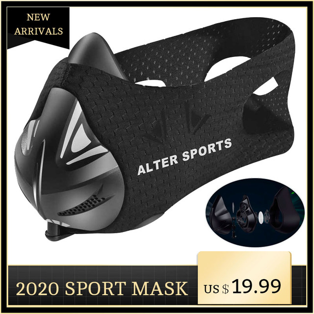 ALTER Sports Mask High Altitude Simulation For Training Dust Mask Running Fitness Elevation Increase Cardio Workout Gym