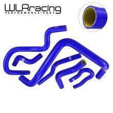 WLR سباق الأزرق والأصفر طقم خرطوم المشع من السيليكون لهوندا سيفيك SOHC D15 D16 EG EK 92 00 6 قطعة مع شعار PQY WLR LX1303C QY