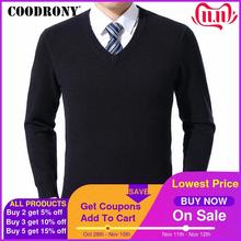 COODRONY suéter de lana de Cachemira con cuello en V para hombre, ropa para hombre, otoño e invierno, de talla grande, informal, 2020