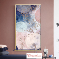 EECAMAIL Nordic Porch Diamond Painting Full Diamonds Embroidered Abstract Watercolor Vertical Version Modern Home Decoration