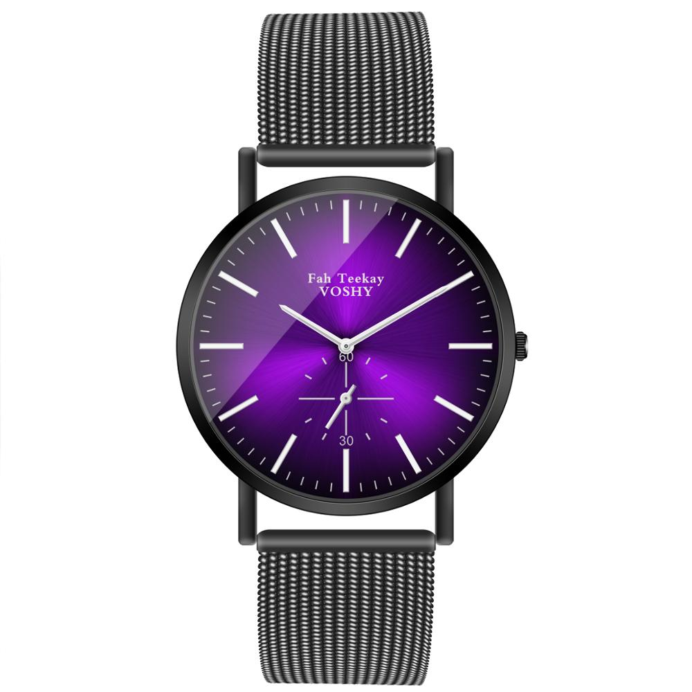 Mens Watches Fuax Mesh Quartz Analog Wrist Watch Chronograph 2020 Women Men Lover's Gift School Student Watches Reloj Mujer Saat