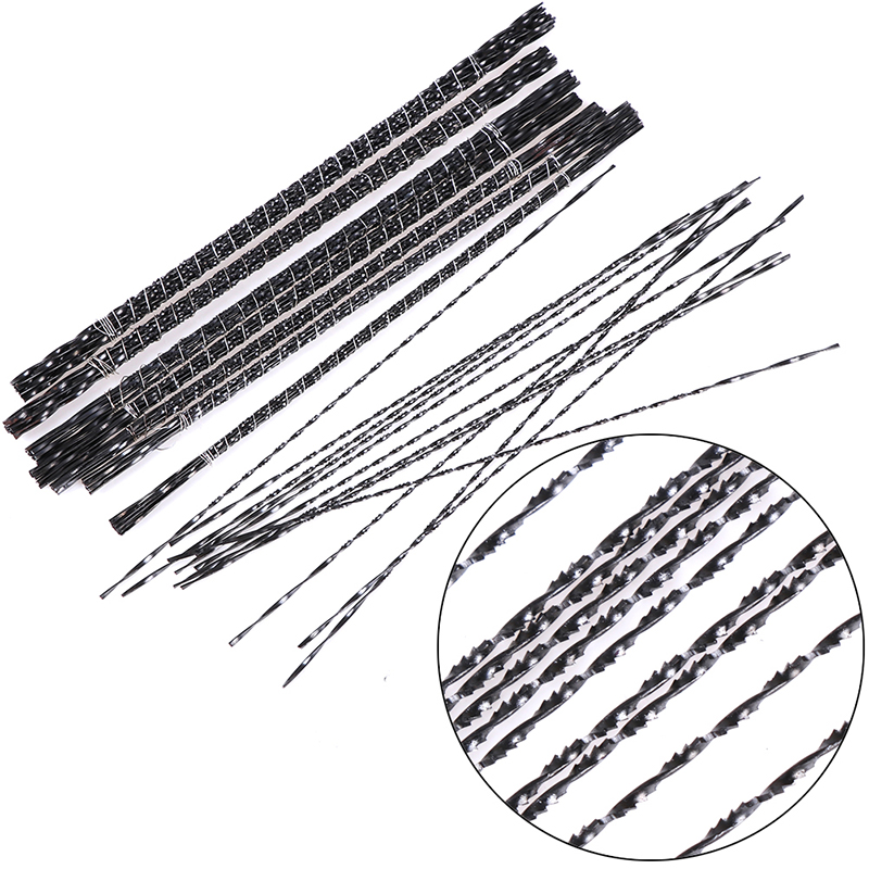12Pcs 0.7/0.85/0.9/0.95/1.05/1.13/1.28/1.35mm Spiral Tooth Wood Saw Blades Steel Wire Metal Cutting Hand Craft Tools For Carving