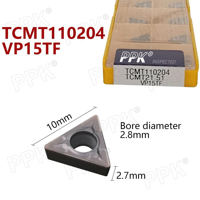 TCMT110204 TCMT21.51 VP15TF Carbide Inserts Internal Turning Tools Cutting Tool CNC Tools Lathe Cutter