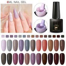 Mtssii Gel Nail Polish Morandi Pure Colors 6ml Soak Off Mani