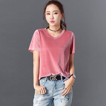 2020 nowy letni T-shirt damski bawełniany wysokiej jakości T-shirt O-neck Tshirt Top na co dzień koszulki damskie tanie i dobre opinie CN (pochodzenie) Lato COTTON Krótki REGULAR Suknem Stałe Yi02 NONE Osób w wieku 18-35 lat