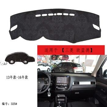 TOMMIA para Mitsubishi Outlander 13-16 salpicadero almohadilla cubierta Dash Mat Anti-Sun terciopelo instrumento