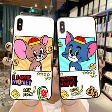 NBDRUICAI Cute Cartoon Tom Jerry Bling Cute Phone Case for iPhone 11 pro XS MAX 8 7 6 6S Plus X 5S SE 2020 XR case nbdruicai the shawshank redemption bling cute phone case for iphone 11 pro xs max 8 7 6 6s plus x 5s se xr case