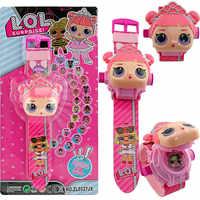 LOL poupées surprise 3D projection dessin animé enfants montres Anime figure éducative garçons filles regarder enfants jouets 2S07