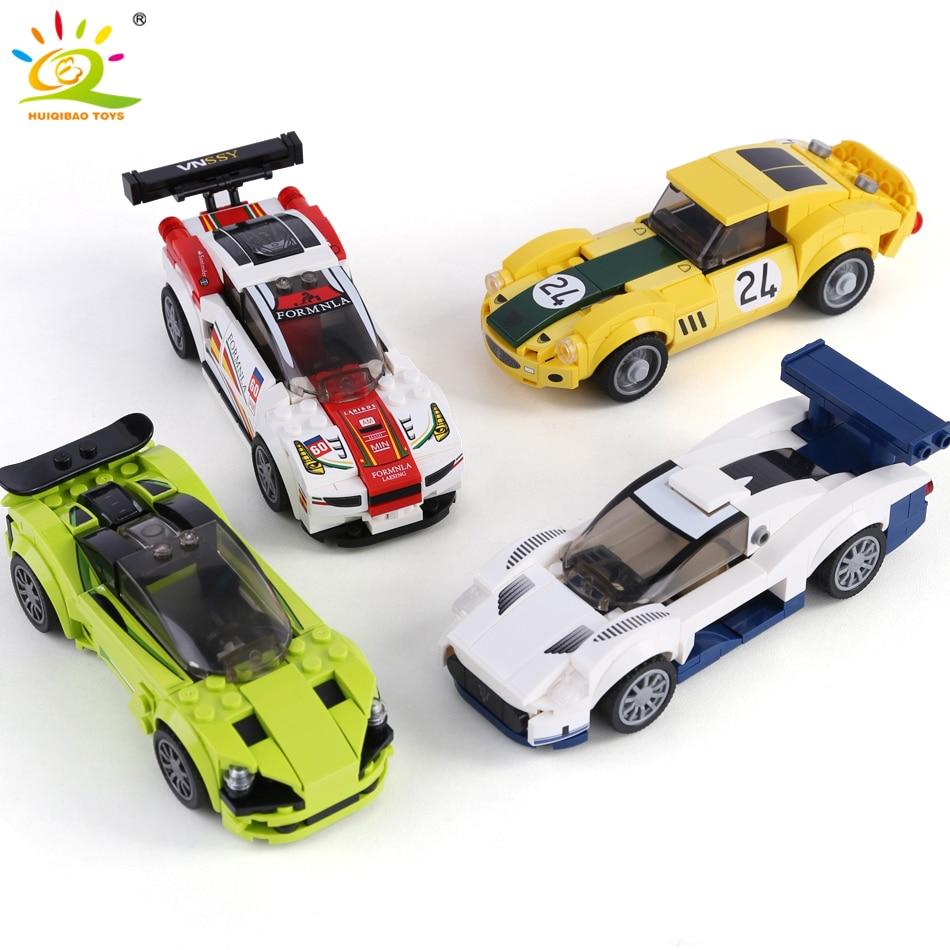 HUIQIBAO Racing Sport Car Speed Champions Building Blocks City Super Racers Figures Car Vehicle Technic Bricks Toys Children|Blocks|   - AliExpress