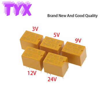 5Pcs Signal Small Relay HK4100F-DC3V-SHG HK4100F-DC5V-SHG HK4100F-DC12V-SHG HK4100F-DC24V-SHG HK4100F-DC9V-SHG 6Pin 3A 3V 9V 24V 5pcs hk19f dc5v shg 1a 125v ac 2a 30v dc mini power relay 8pin new hot wholesale