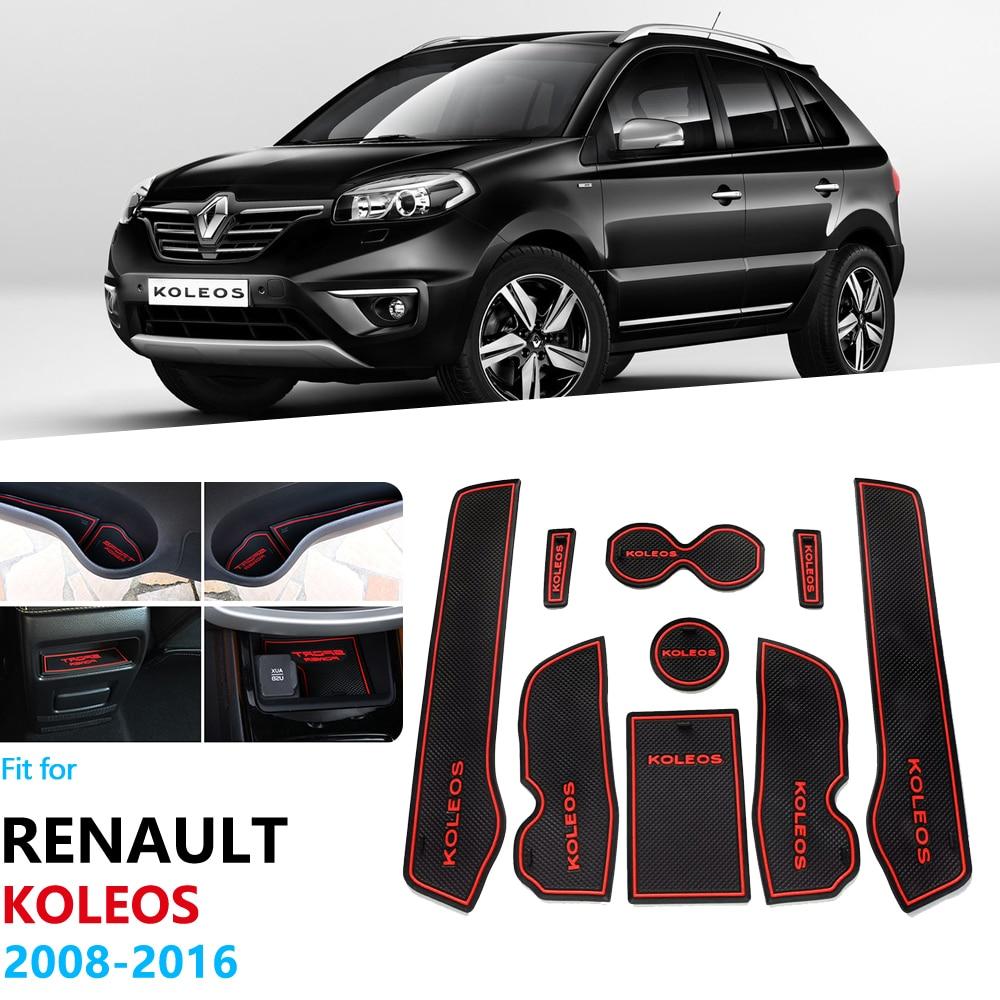 Для Renault Koleos Samsung QM5 2008 ~ 2016, противоскользящая прорезиненная прокладка для ворот, резиновый коврик для чашки, автомобильные наклейки 2015 2014 2013 ...