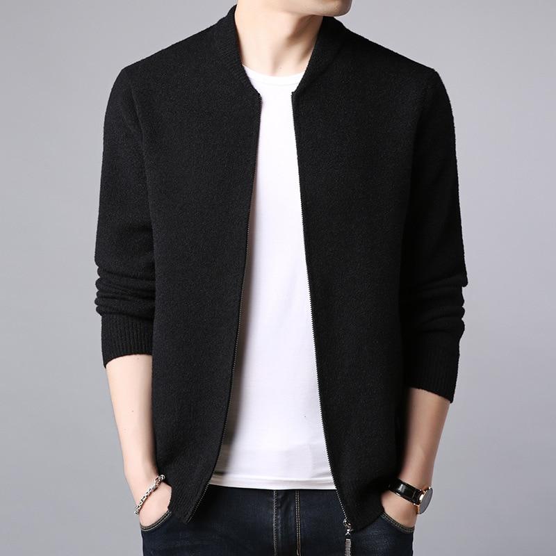 Mens Sweaters 2020 Men's Spring New Men's Sweater Cardigan Men's Slim Thin Coat Solid Color Men Clothes
