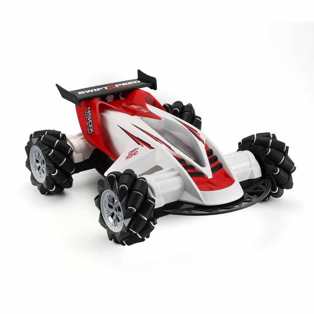 Z108 2,4 GHz 1/10 RC автомобиль Дрифт 360 градусов спиннинг трюк 20 км/ч Mecanum Omni колесо внедорожный автомобиль со светом и музыкой