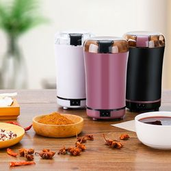 Mini Electric Coffee Mill Grinder 150W Powerful Blade Bean and Spice Grinder Set